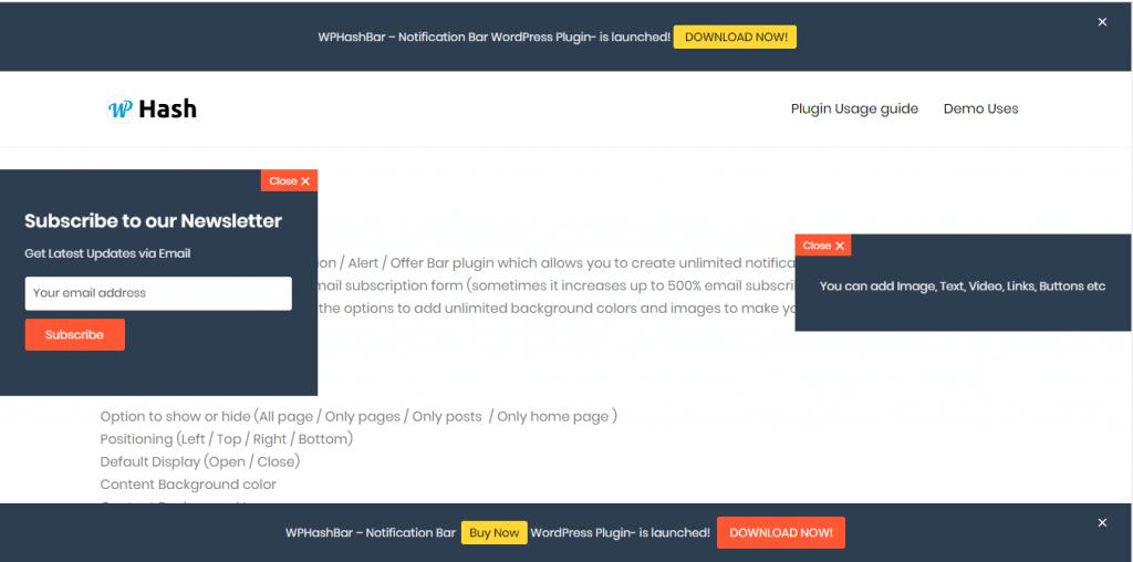 HashBar——WordPress公告/通知栏插件