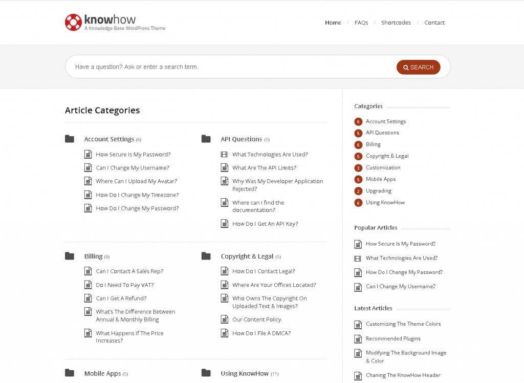 KnowHow-一款WordPress知识库主题